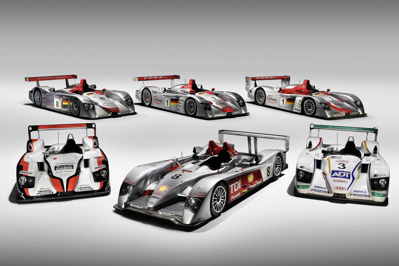 Zmagovalni dirkalniki družbe AUDI AG v Le Mansu