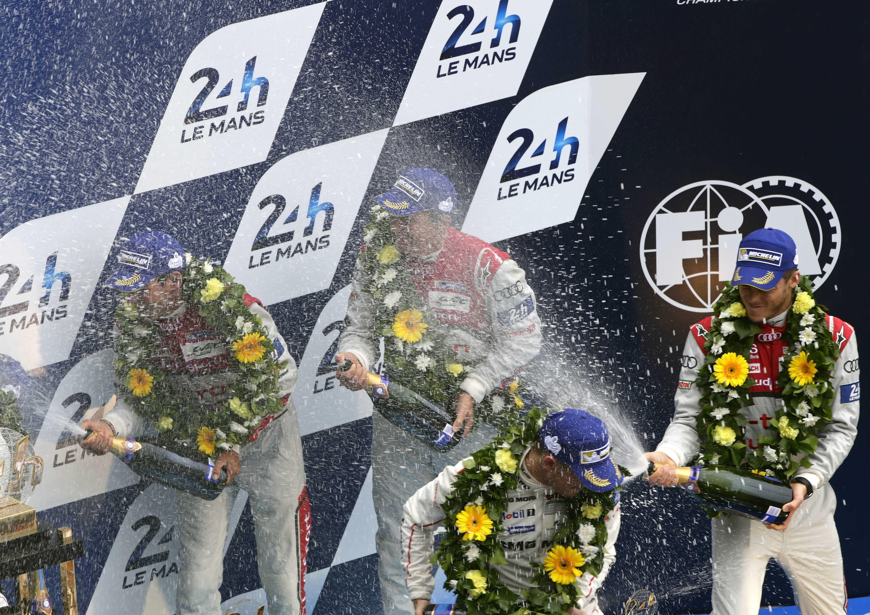 24 ur Le Mansa 2015: Benoît Tréluyer, Marcel Fässler, André Lotterer