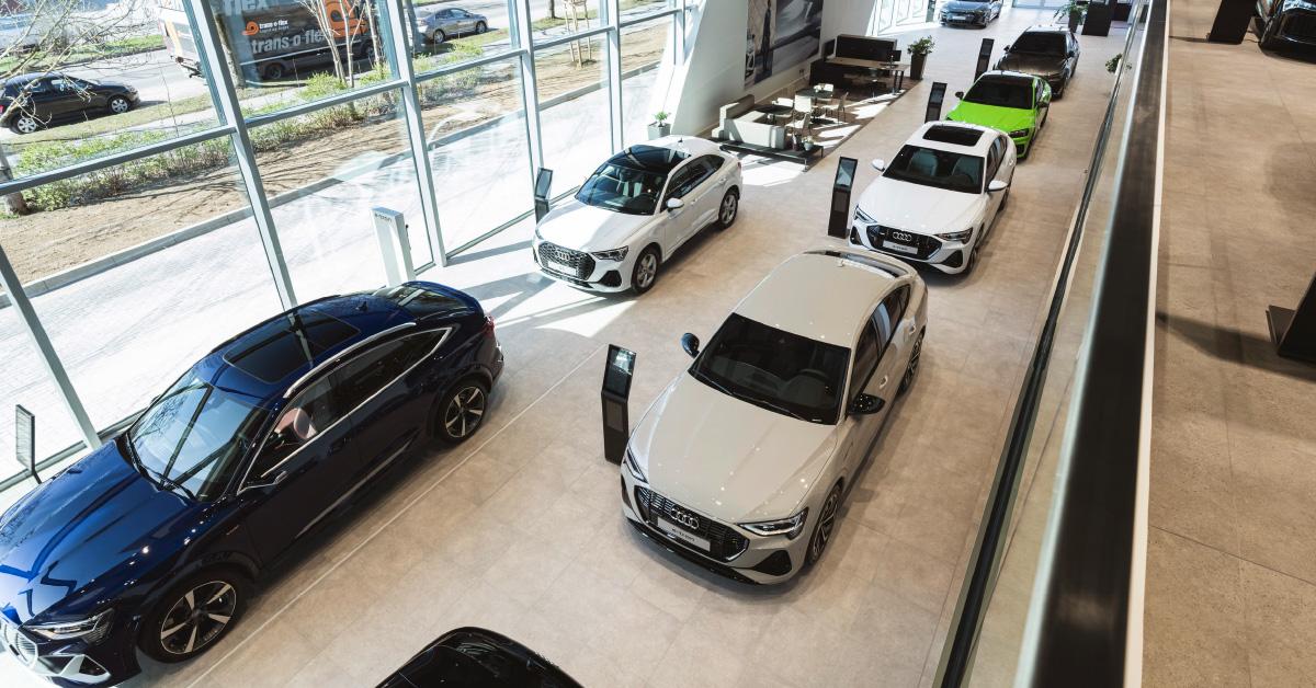 Razstavna soba novega Audijevega prodajnega salona