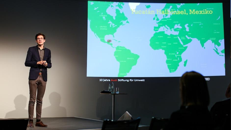 Felix Finkbeiner med predstavitvijo o okoljevarstvu