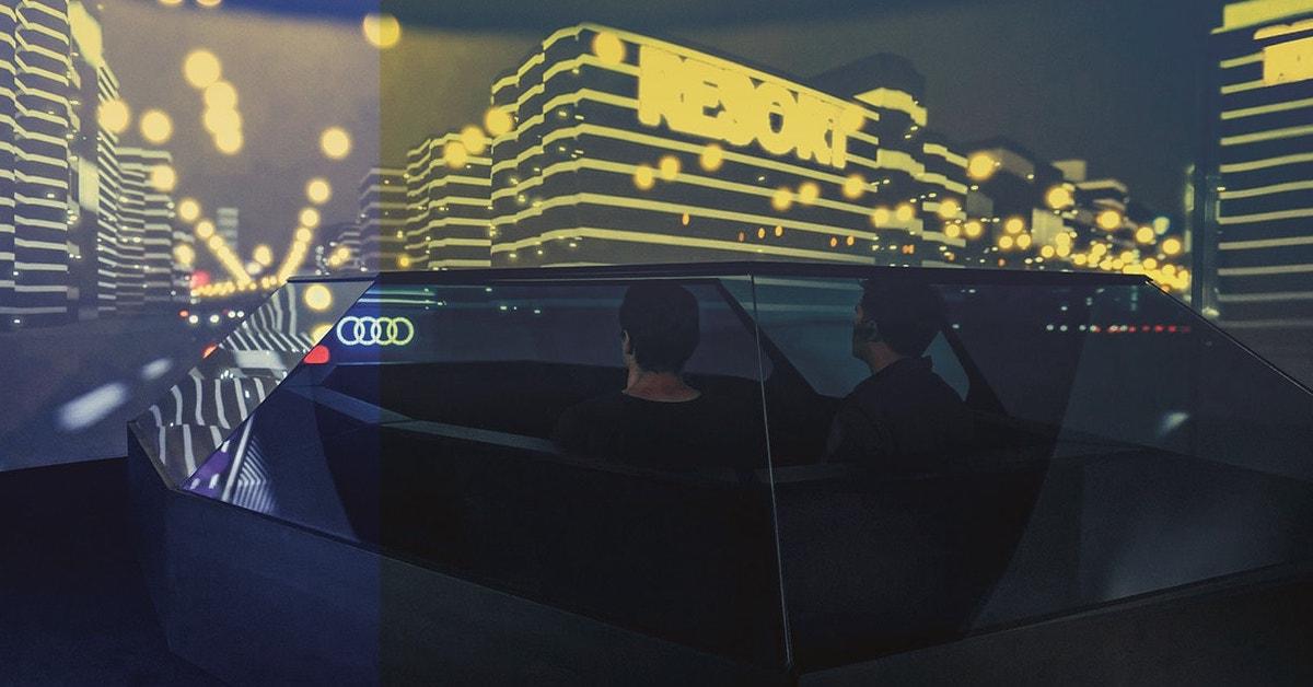 Futuristična notranjost avtomobila Audi. Grafika