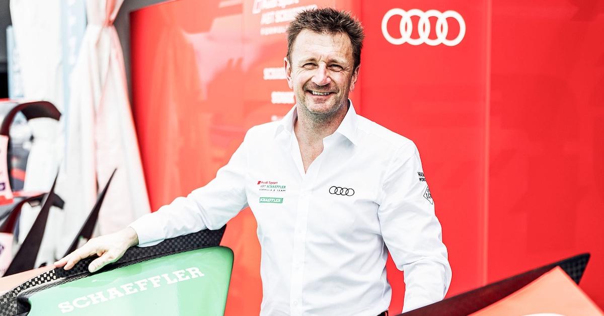 Allan McNish pred Audi znakom.
