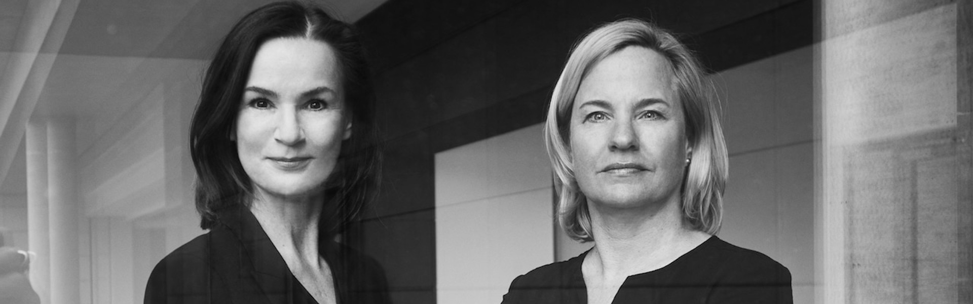 Hildegard Wortmann in Britto Seeger - črno bela slika