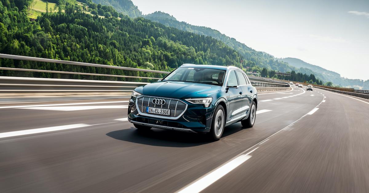 Audi e-tron na avtocesti