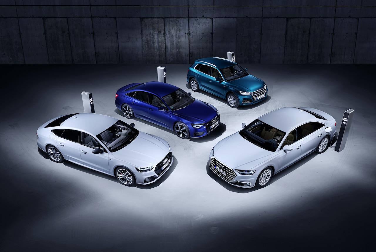 Priključni hibridi Audi Q5, A6, A7 in A8