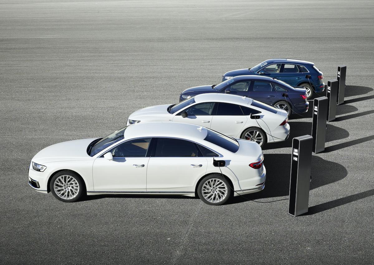 Audijevi priključni hibridi Audi Q5, A6, A7 in A8
