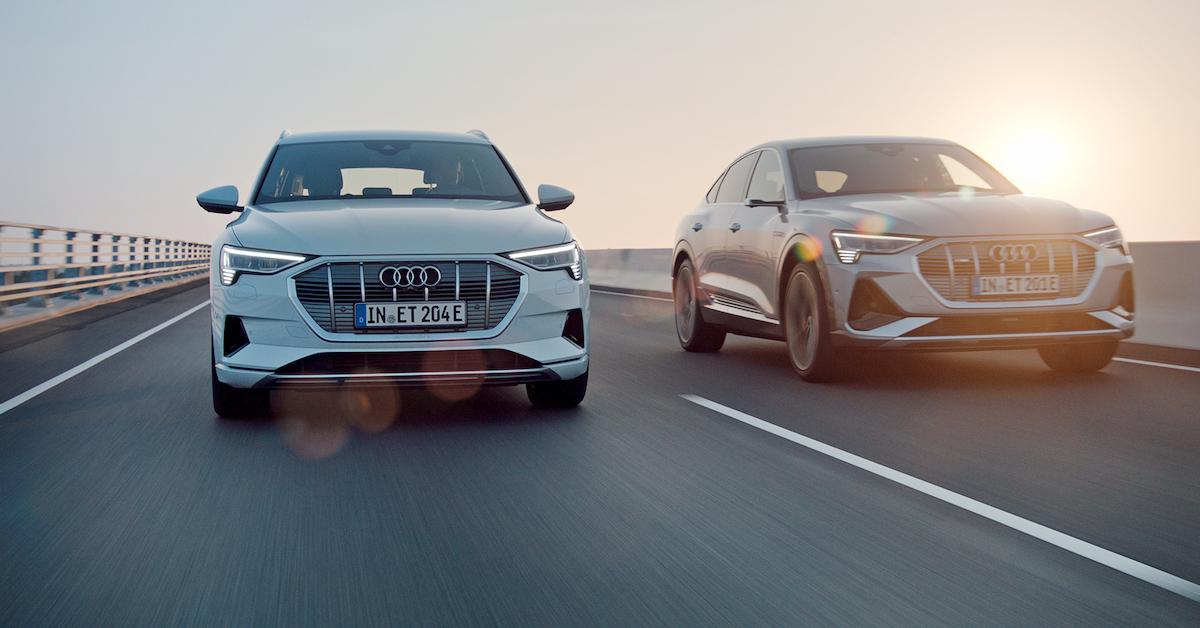 Audi e-tron in Audi e-tron Sportback na cesti