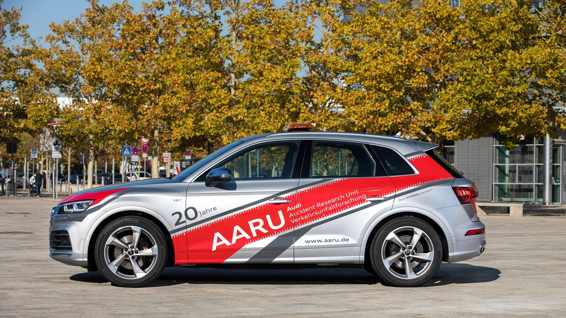 Vozilo enote AARU (Audi Accident Research Unit).