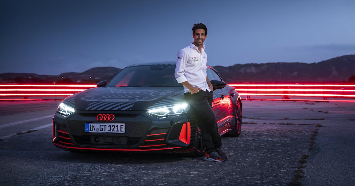 Prototip Audi RS e-tron GT in Lucas di Grassi