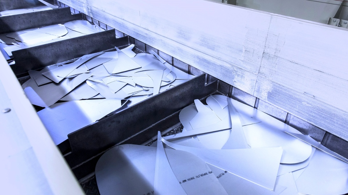 Odpadki aluminija, ki nastanejo med proizvodnjo