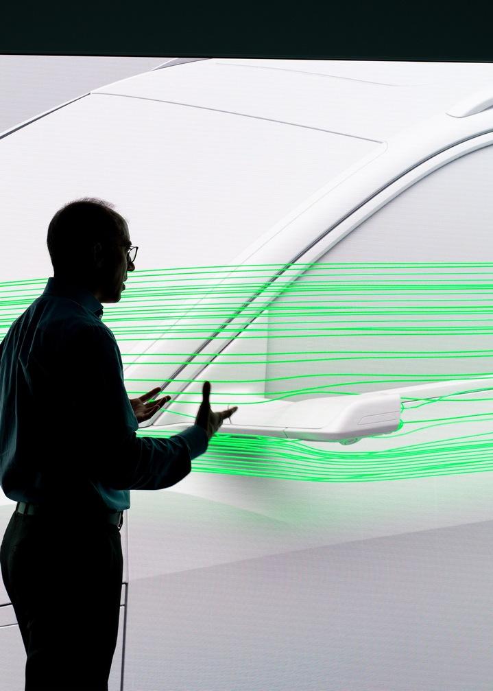 Virtualna zunanja ogledala pri Audi e-tronu.