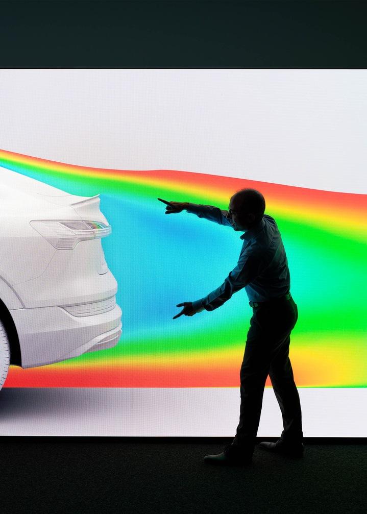 Zračna tokova naj bi se srečala čim bolj vzporedno za vozilom.