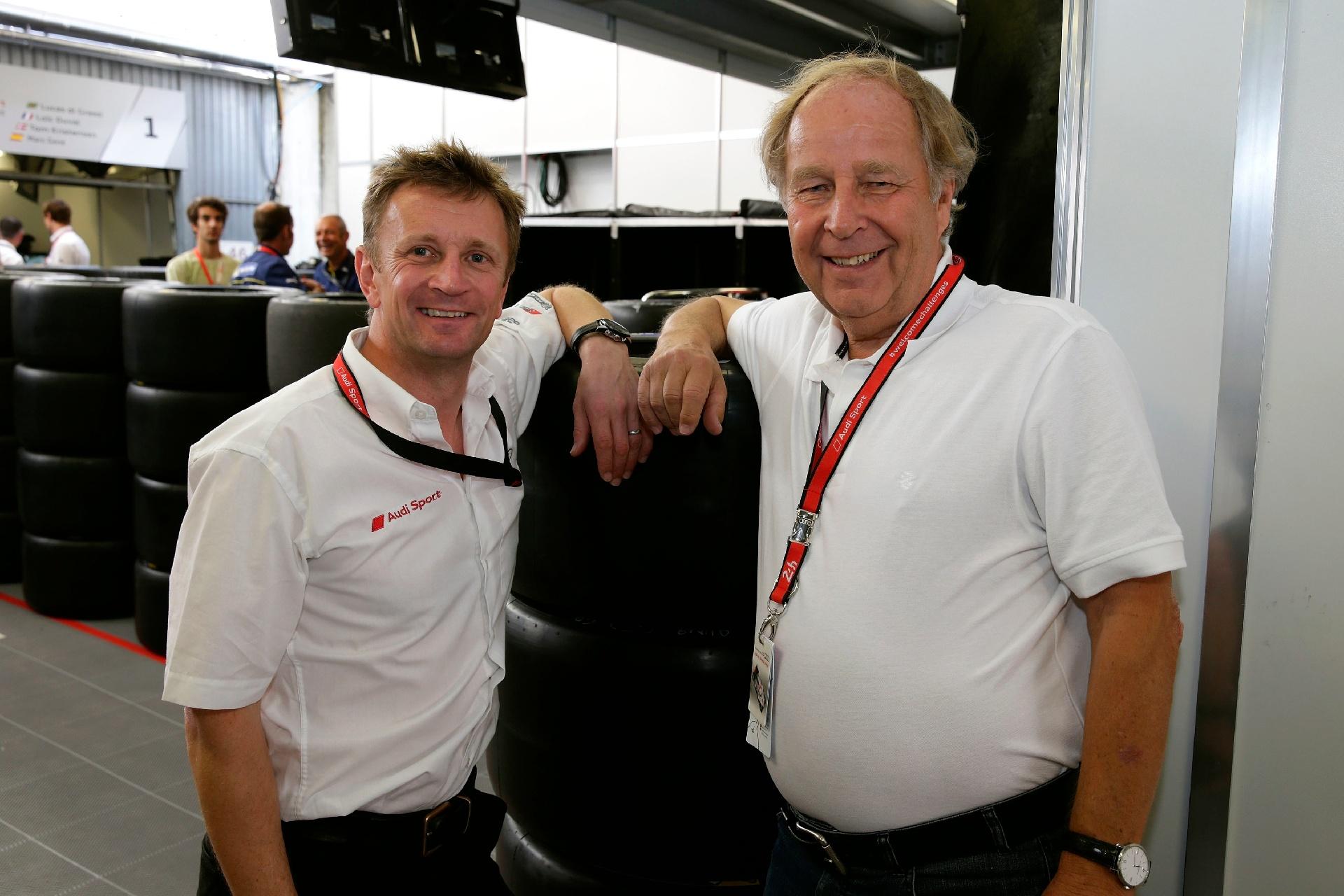 Allan McNish in Hannu Mikkola med obiskom 24 ur Le Mansa
