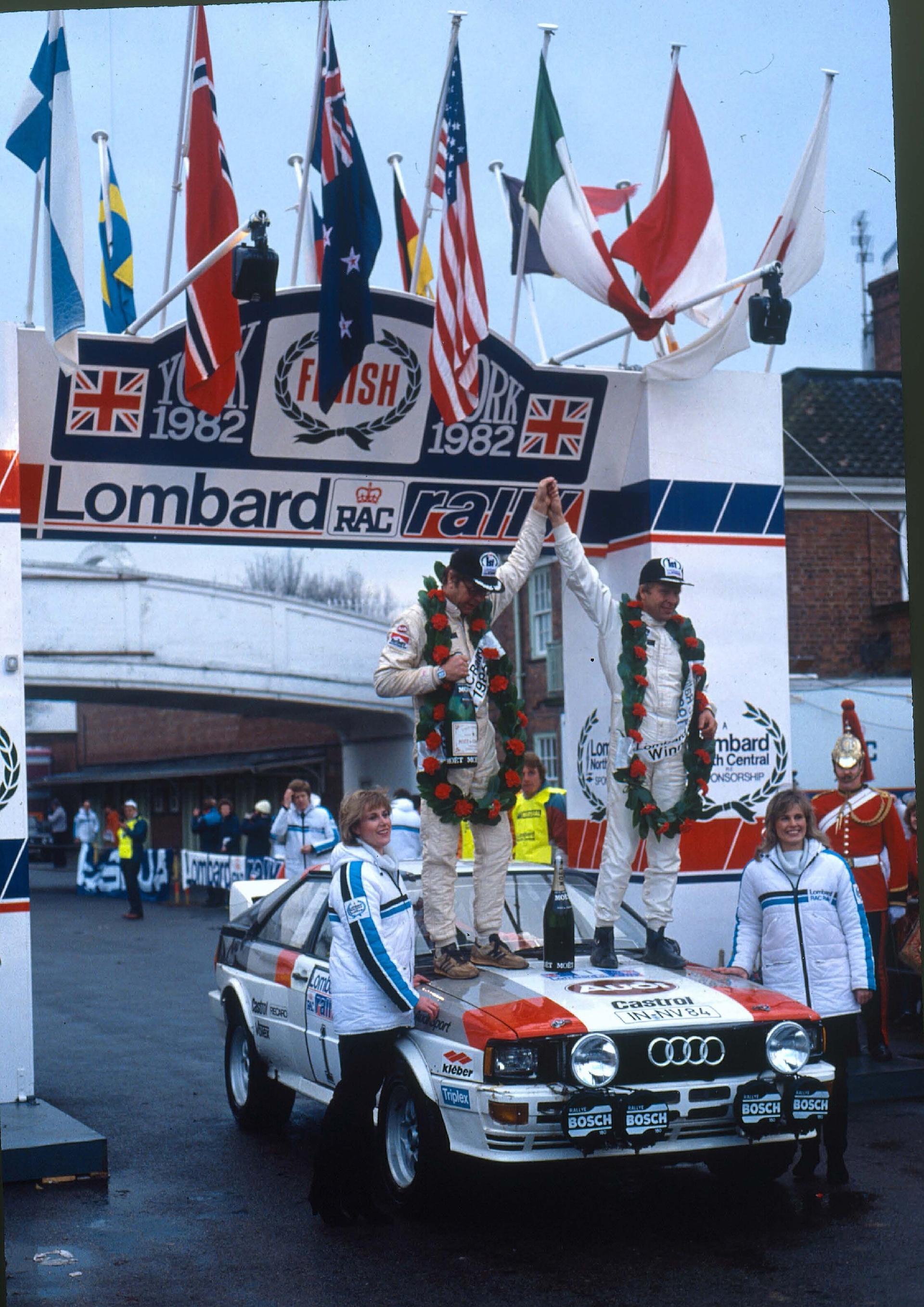 Hannu Mikkola je bil najhitrejši na rallyjih Lombard RAC v letih 1981 in 1982. Leta 1983 je osvojil naslov svetovnega rally prvaka.