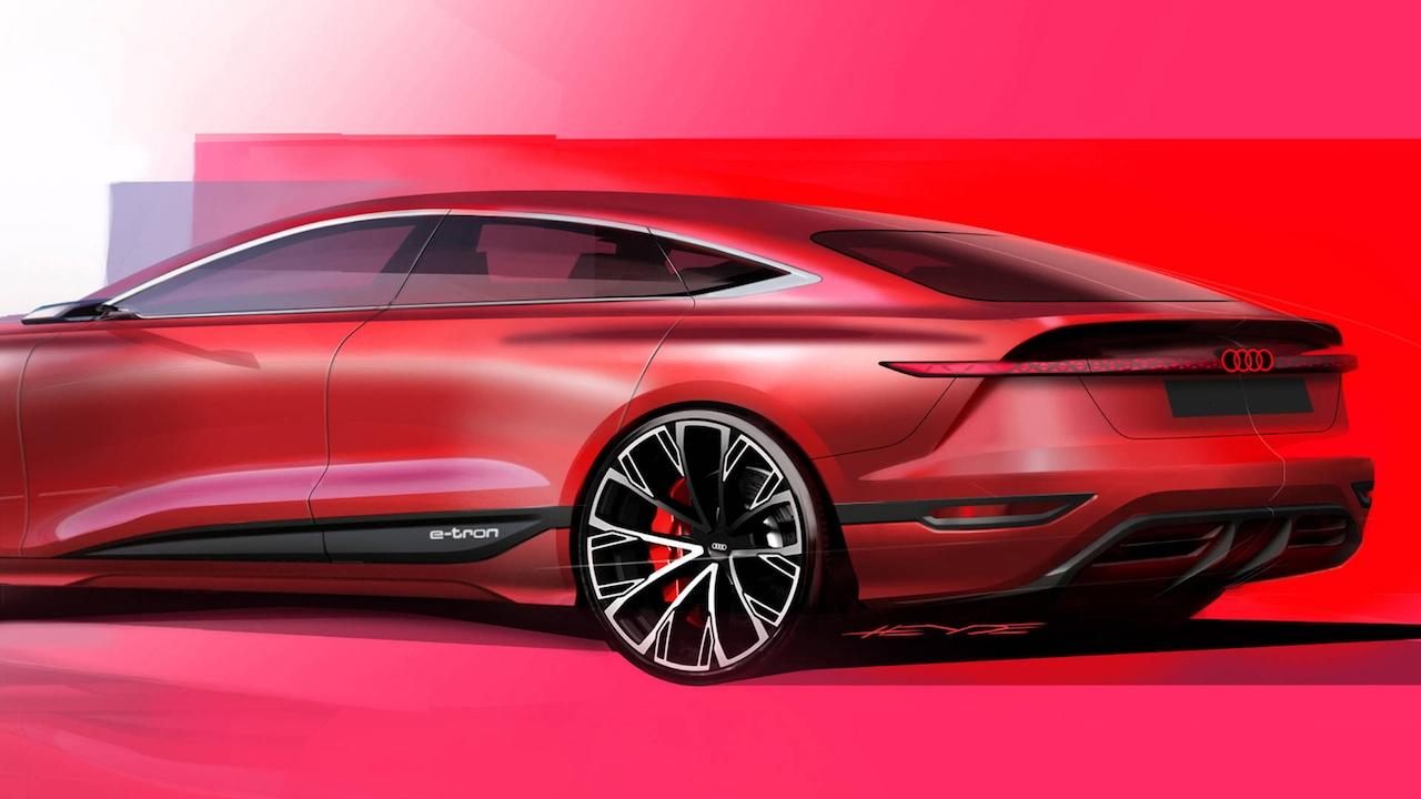 audi A6 e-tron koncept v rdeči barvi