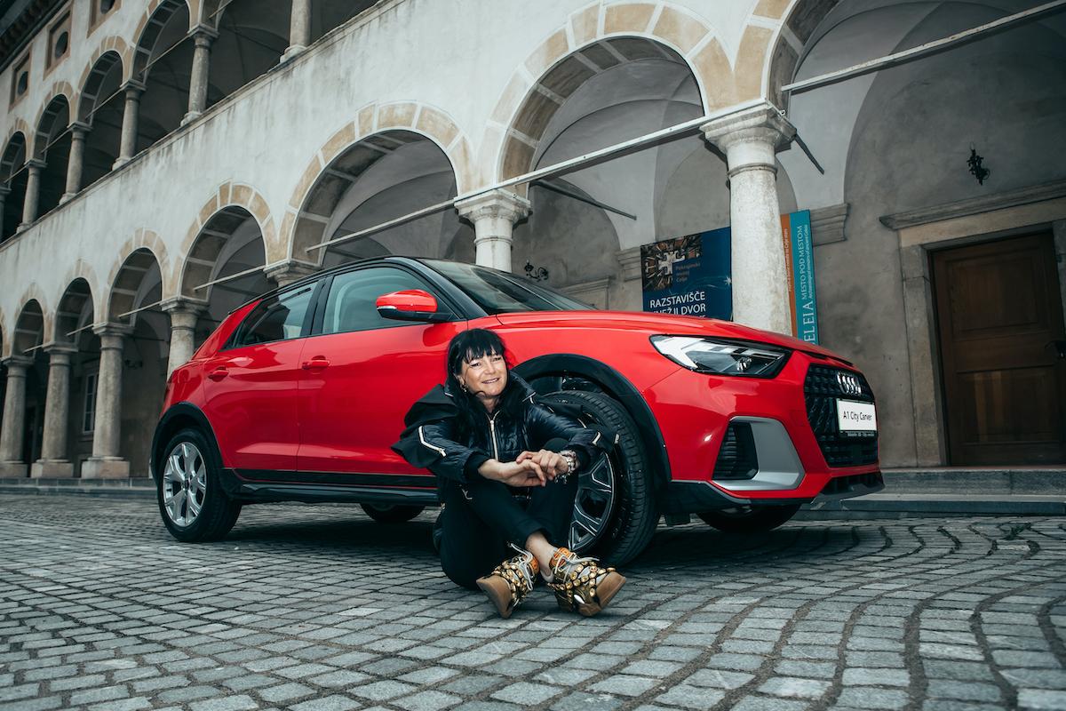 Nataša Berginc in Audi A1 citycarver
