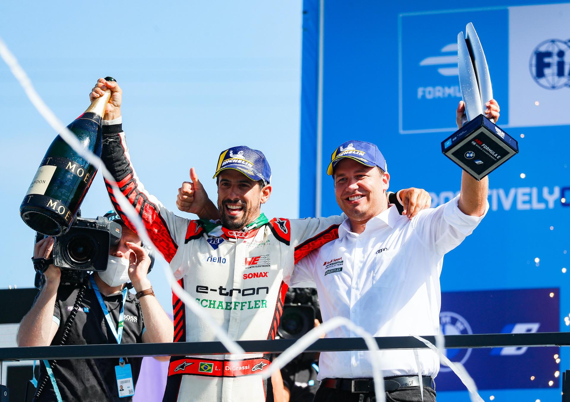 Voznik Formule E Lucas di Grassi in Julius Seebach.