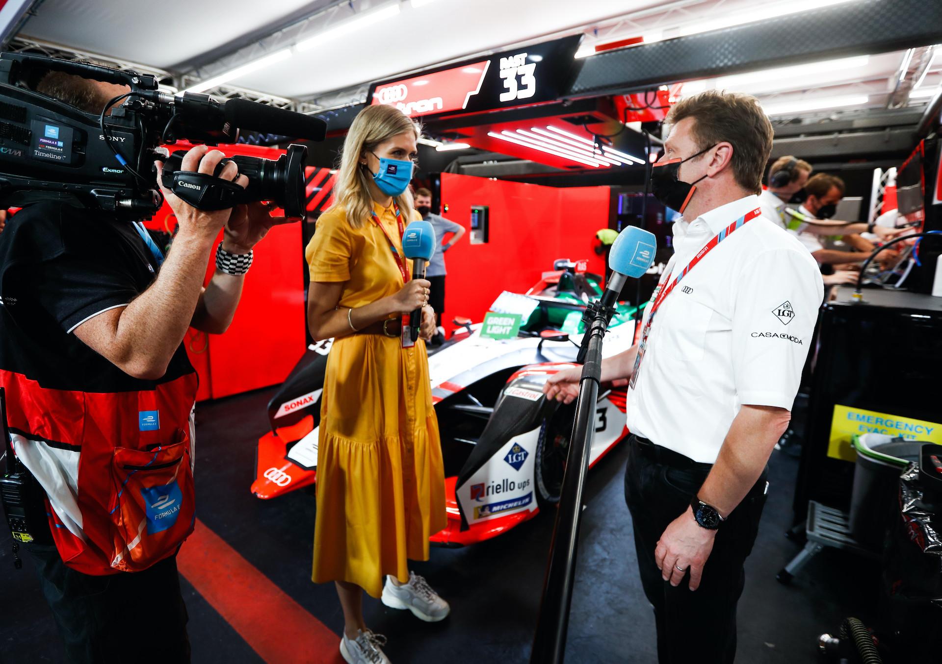 Allan McNish, vodja ekipe Audi Sport ABT Schaeffler.