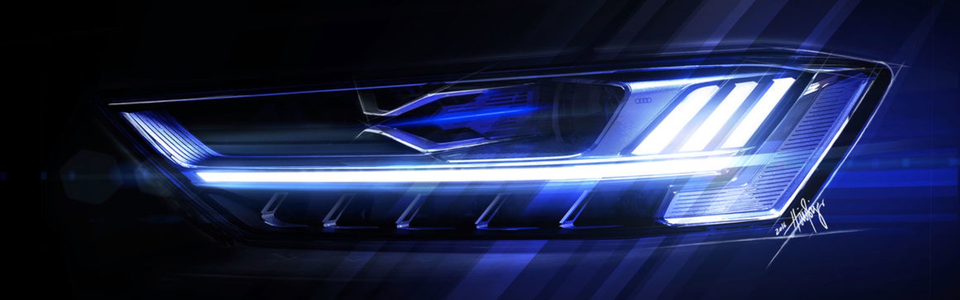 Skica luči Audija A8