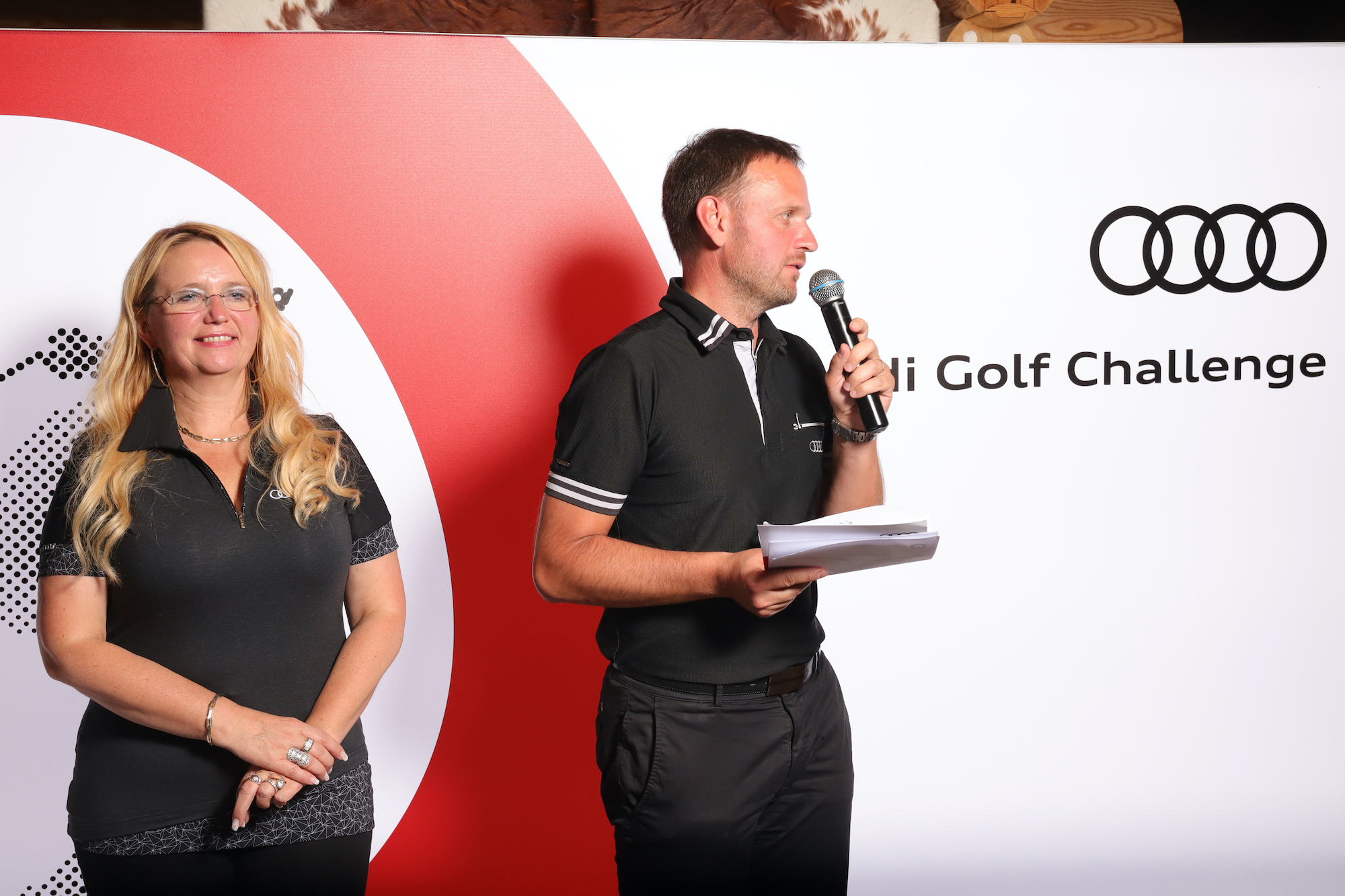Podelitev nagrad po koncu Audi golf turnirja